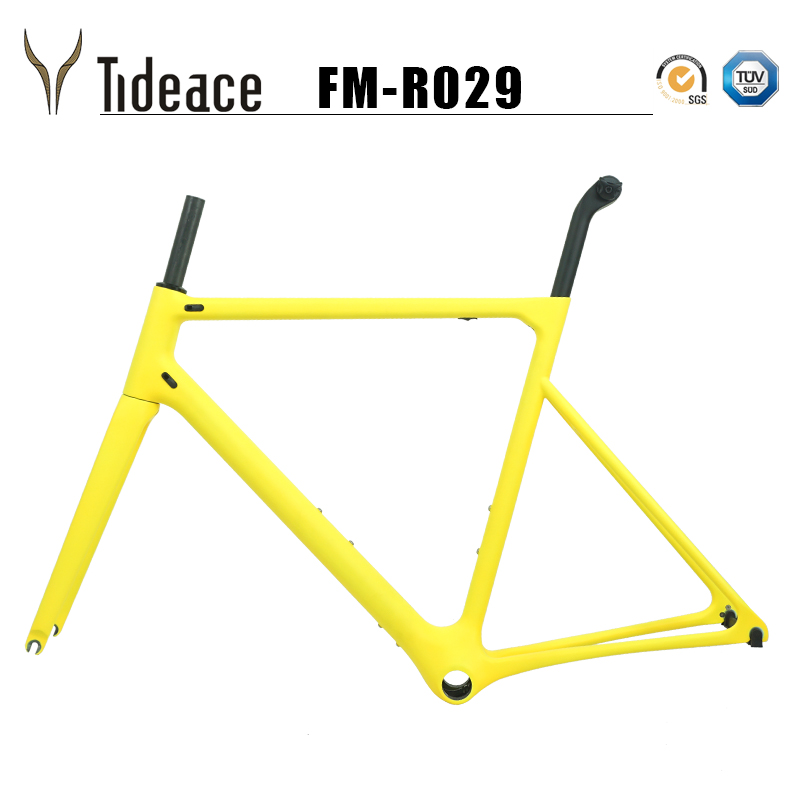 2019 super light almost 800g one piece Road carbon bicycle frame 46 48 50 52 54