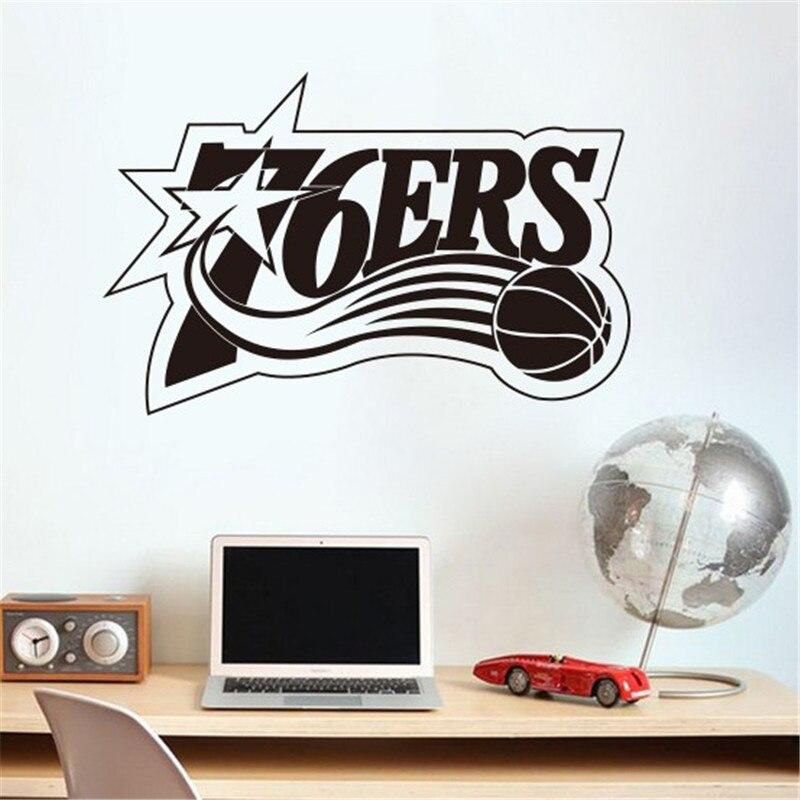 home decoration Philadelphia 76ers NBA American professional basketball team logo wall stickers living room bedroom den