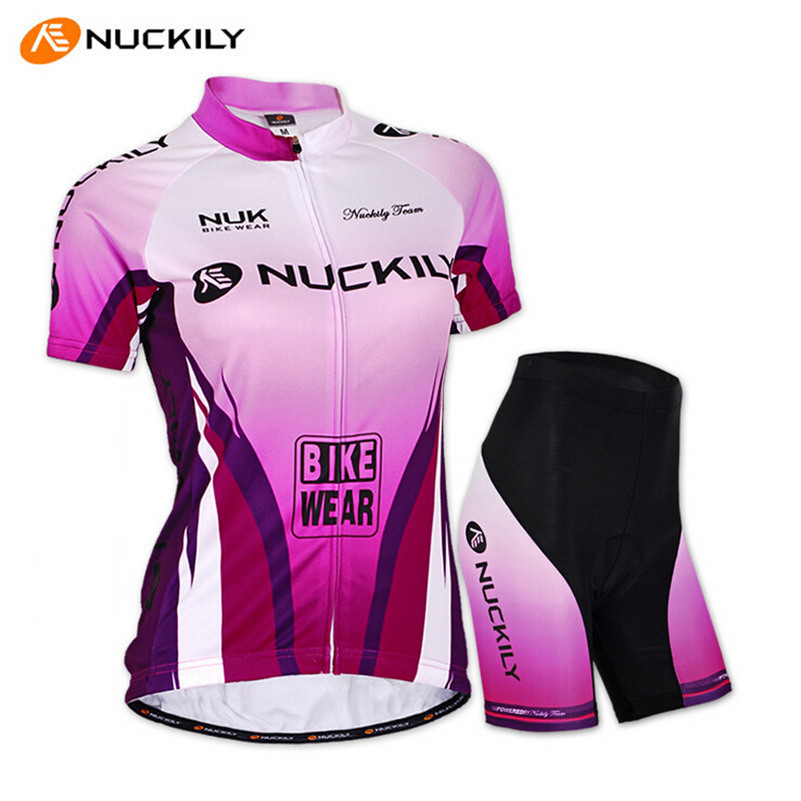 NUCKILY 2017 Women Slim Fit Road MTB Bike Jerseys Sets Cool Breathable Design Bicycle Clothing Pro Bike Cycling Jerseys Suit
