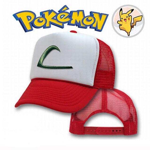 Pokemon Ash Ketchum sombrero del monstruo gorra de béisbol algodón Cosplay  sombreros de verano 1b455ec352a