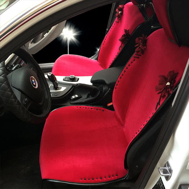 girl car seats Purple Red Green Rose leather velutinous stylish obsidian  decoration  seat covers and. Girl Car Interior Decor   education photography com