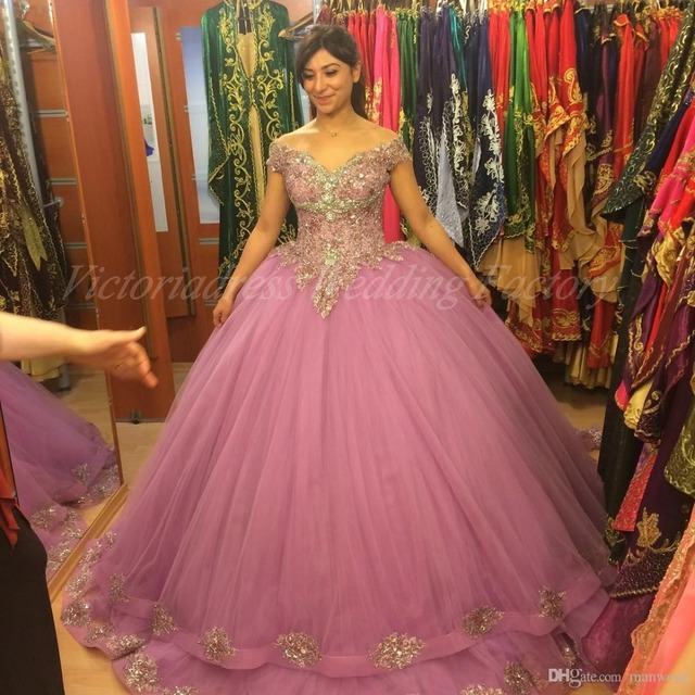 eb4d3f55923 Vestidos Para 15 Anos Sweet 16 Birthday Ball Gown Sparkly Puffy Hot Pink Quinceanera  Dresses Girl Debutante 15 Years Dress