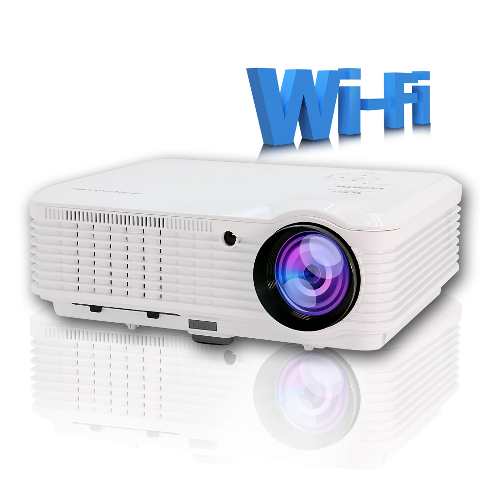CAIWEI LED Projector WIFI Android 4500 Lumens For Home Cinema School Meeting Game Port HDMI VGA USB AV TV Proyector Beamer 3500 lumens home projector entertainment cinema 1024 768pixels updated free hdmi full color office projector game proyector