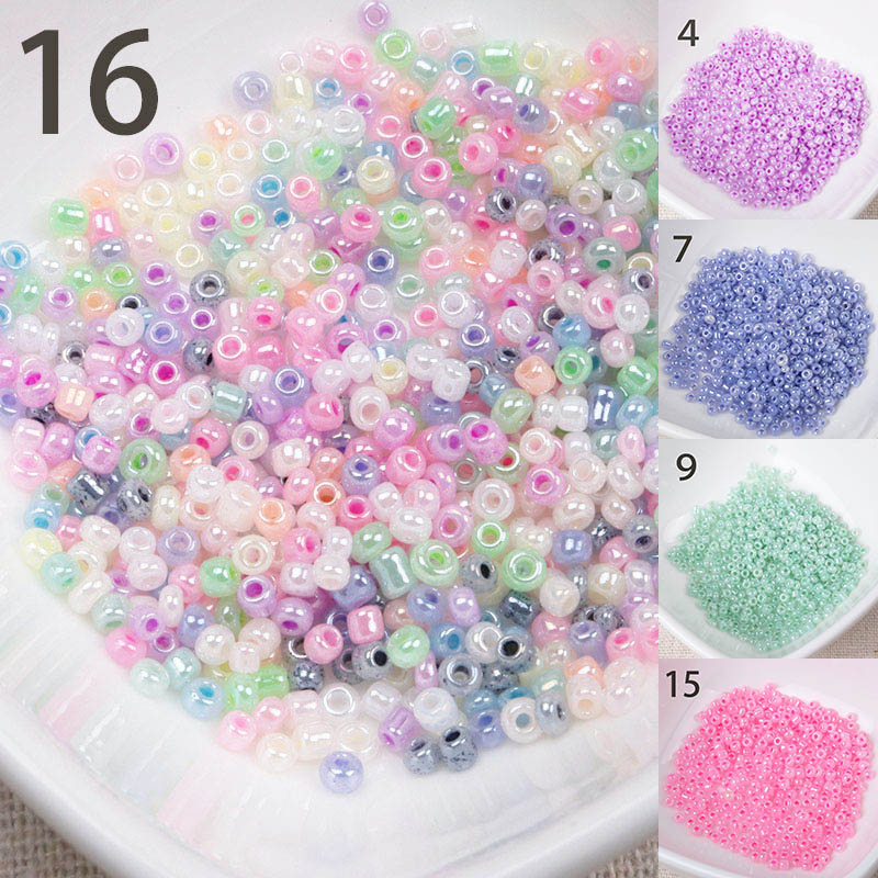 Wholesale 15 colors 2mm 1500pcs cream Glass Czech Seed Spacer beads For jewelry handmade DIY Free shipping(China)