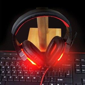 Image 4 - Oyun kulaklık USB 3.5mm oyun kulaklık arayüzü LED ses kontrolü aşırı kulaklıklar mikrofon ile PC için oyun kulaklık