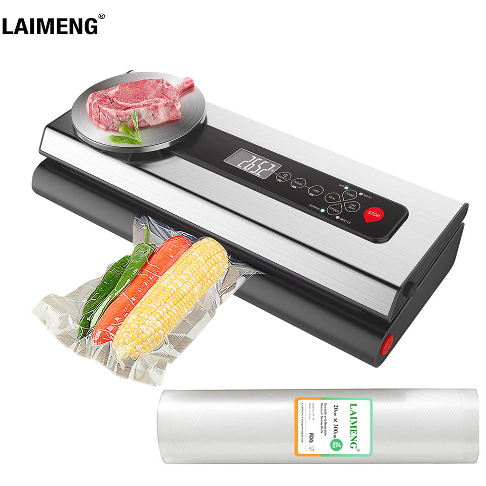 LAIMENG Vacuum Sealer Machine With Food Grade Vacuum Bags Packaging For Vacuum Packer Packing For Kitchen