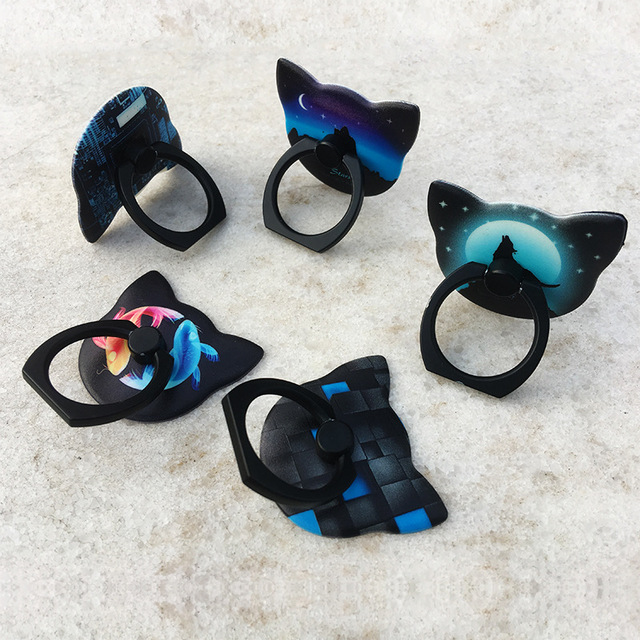 Cat Shaped Pop Socket with Luminous Effect