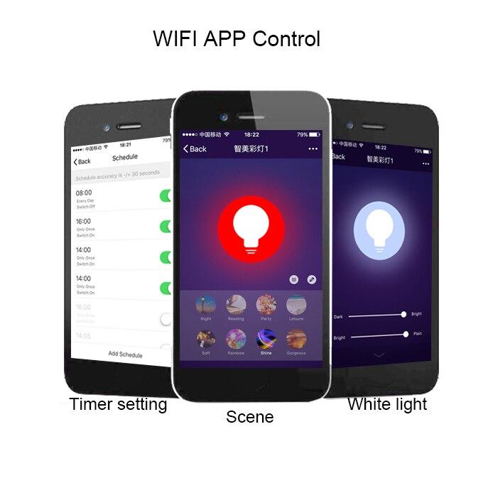 Les têtes d'éclairage de piste de plafond avec l'ampoule RGBW Gu10 Alexa Google Home permettent le contrôle d'application de téléphone Wifi - 2