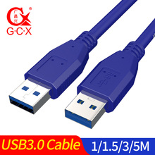 цена на Super Speed Male to Male USB to USB 3.0 Data Cable Male to Female USB Cable Extension Cord for Computer PC 1m 1.5m 3m 5m