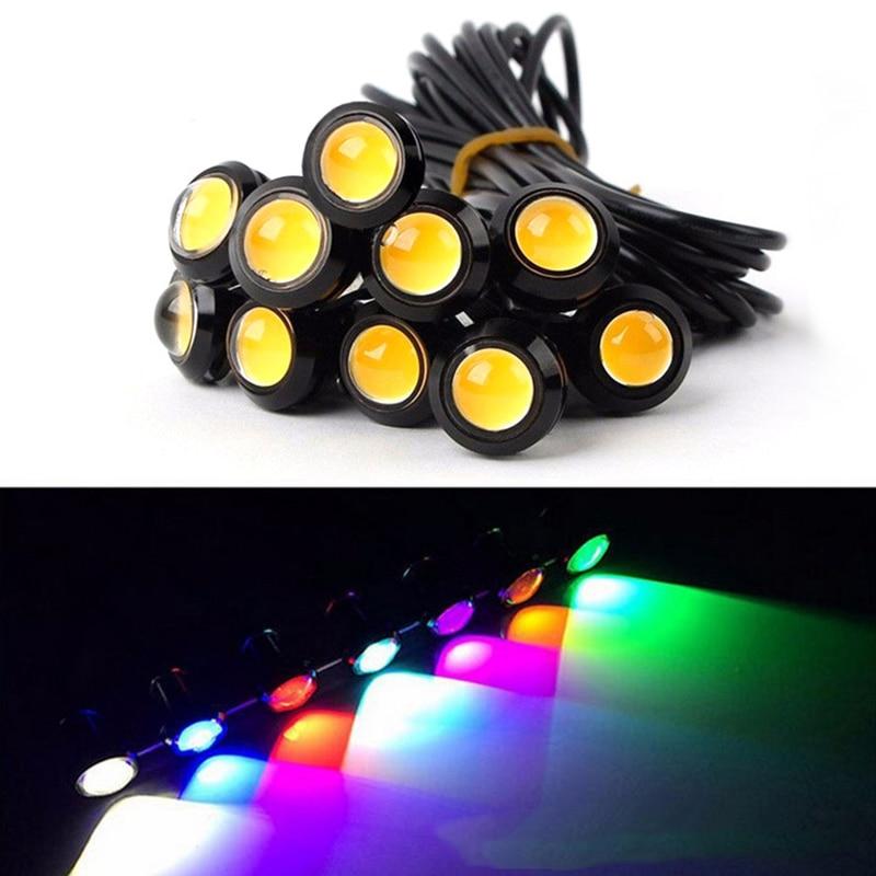 1pcs 18MM 9W Led Eagle Eye DRL дневни светлини - Автомобилни светлини - Снимка 2