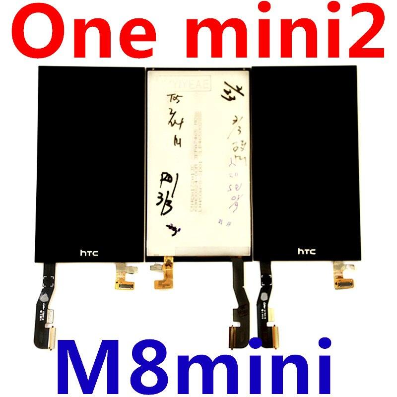 imágenes para Para HTC Uno Mini 2 LCD/M5 M8 mini LCD pantalla LCD + pantalla táctil de cristal Digitalizador Asamblea LCD envío libre + Tocar
