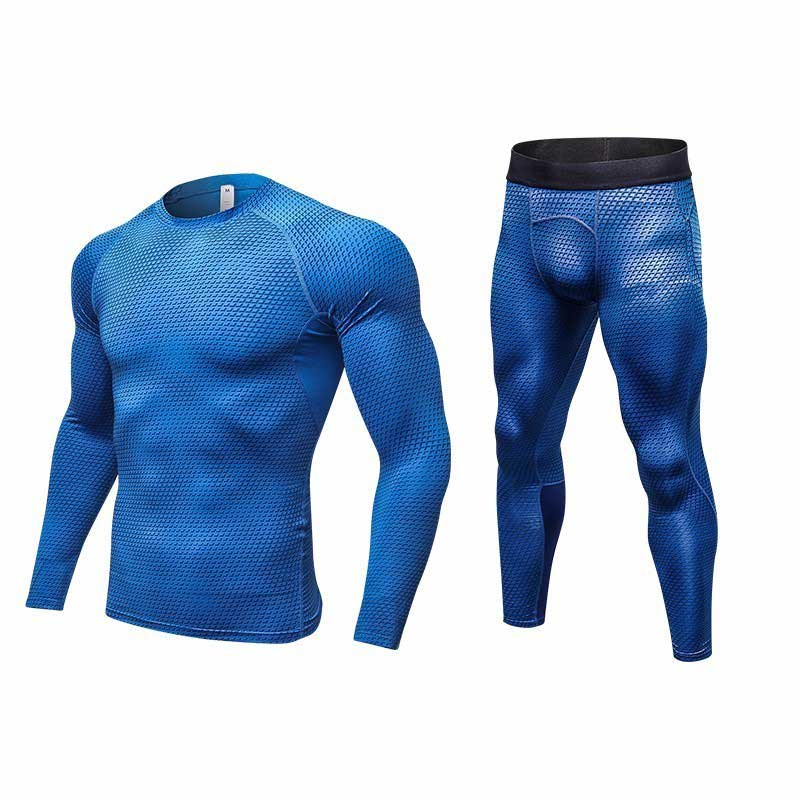 Inventive Men Pro Compression Long Johns Fitness Winter Quick Dry Gymming Male Autumn Sporting Sets Runs Workout Thermal Underwear V401029 Quell Summer Thirst Running Sets