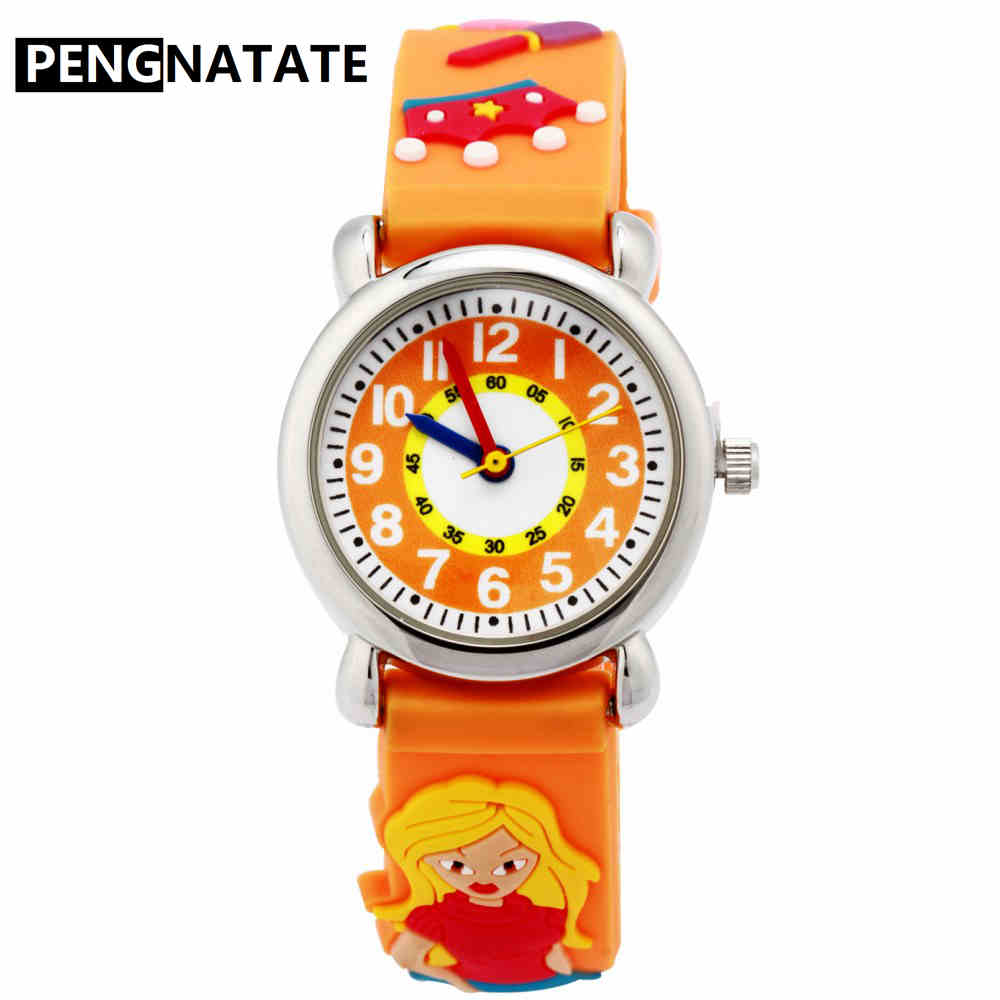 Watches Cartoon Football Style Children Students Girls Boys Nylon Strap Waterproof Quartz Wrist Watch 04