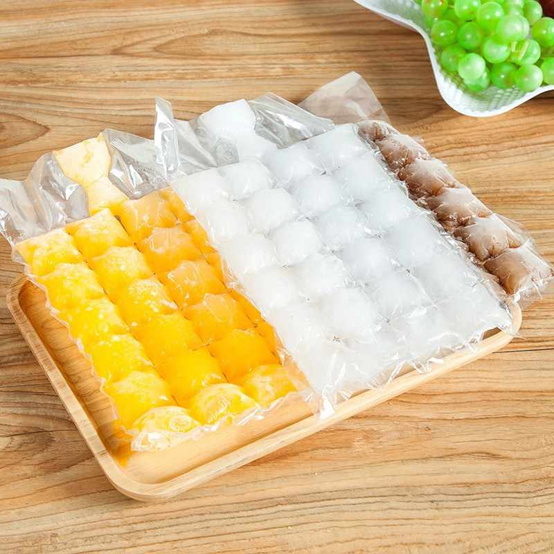 10pcs/pack Disposable Ice-making Bags Ice Cube Tray Mold Ice Mould Ice Tray Summer DIY Drinking Tool KO971473