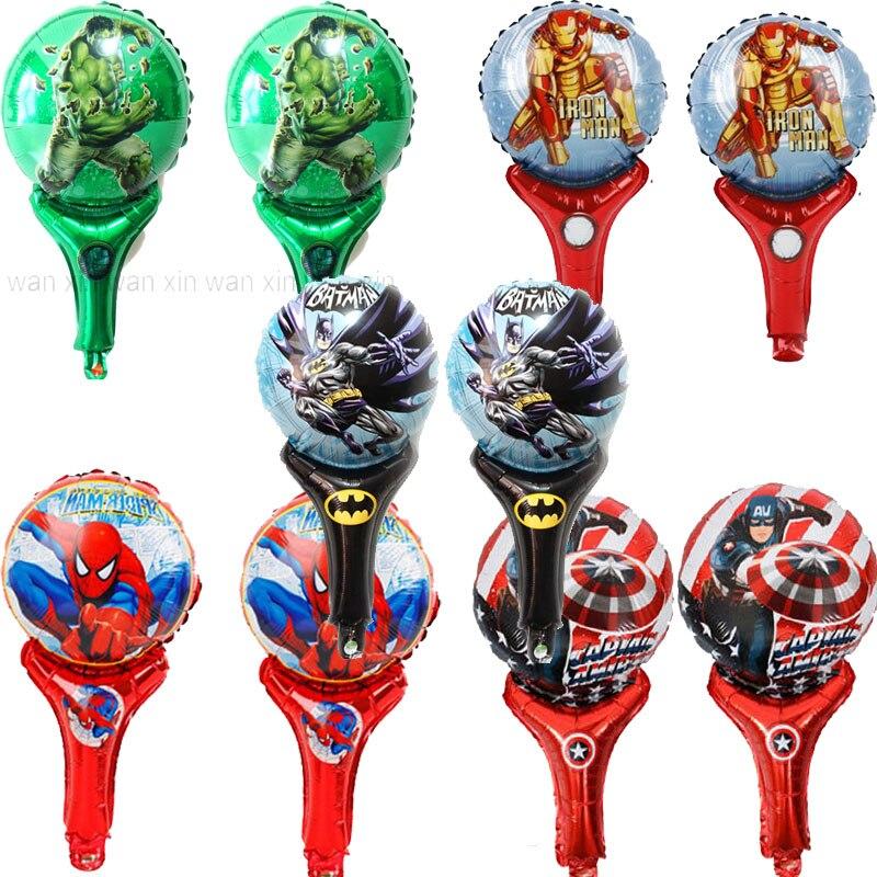 卸売 300 ピース/ロットアベンジャーズパーティー風船ハルク、バットマン、キャプテンアメリカスパイダーマンホイルバルーン手応援おもちゃ風船  グループ上の ホーム&ガーデン からの 風船 & アクセサリー の中 1