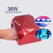 UV &LED Lamp Nail Dryer Diamond Shaped 36W LED CCFL Curing for UV Gel Nail Polish Nail Art Dryer