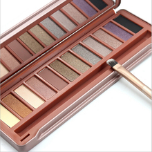 HOT Makeup 12 colors Eyeshadow naked Palette Earth - colored NK cosmetic NAKE eye shadow case Makeup set Eye Shadow With Brush