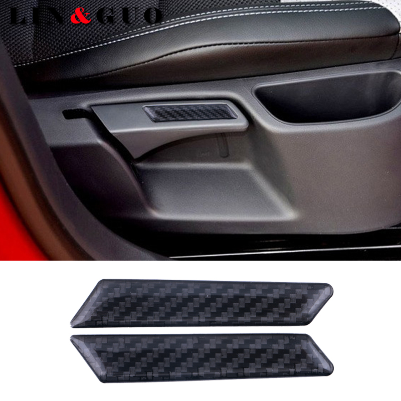 2Pcs Case For Volkswagen VW Golf 5 6 MK5 MK6 GTI Carbon Fiber Sticker Lift Wrench Handle Seat Insert Trim Cover Car Styling