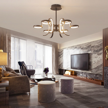 Brown Ceiling Lamp Modern LED Light for living room bedroom Aluminum cocina accesorio lampara techo plafonnier led