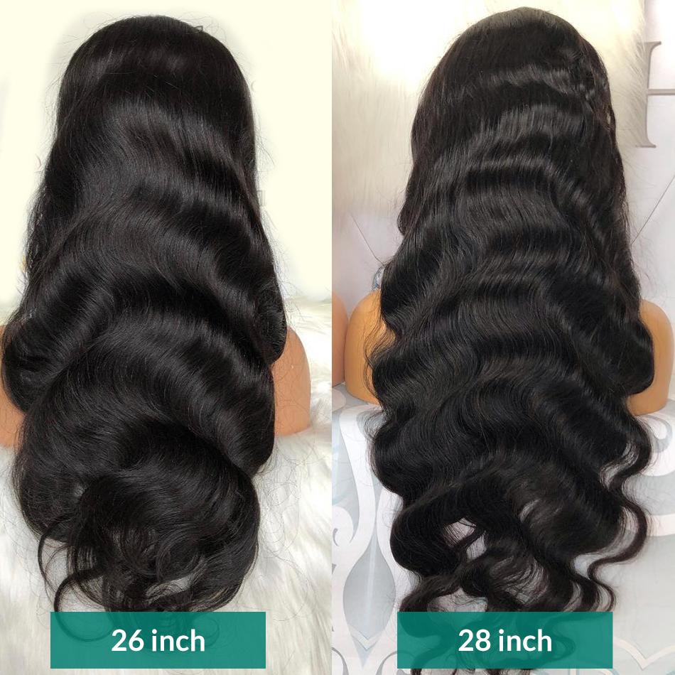 Rosabeauty 28 30 34 inch Brazilian Body Wave 13x6 Lace Front Human Hair Wigs For Black