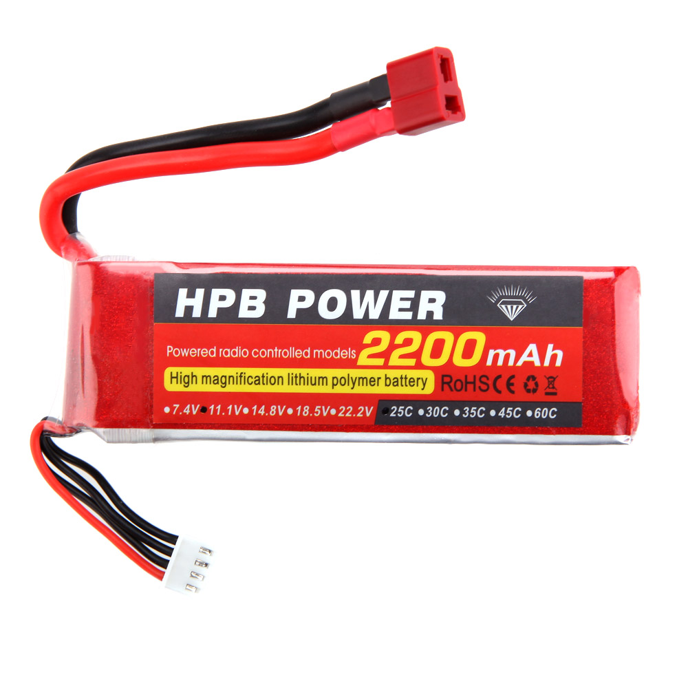 Gens ace 2200mAh 11.1V 25C 3S1P Lipo Battery Pack with ...