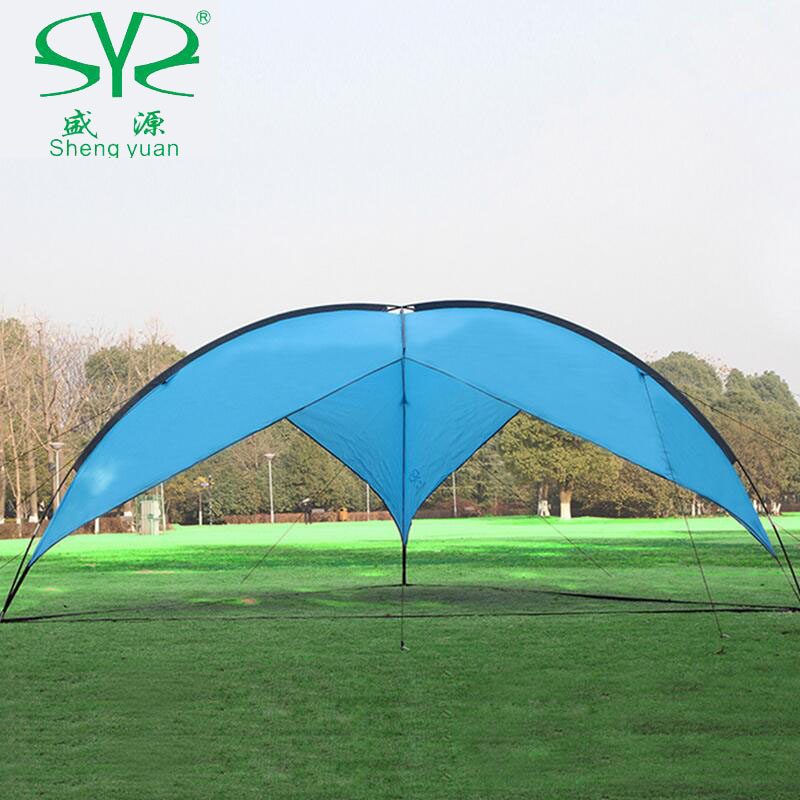 Outdoor sun awning tents camping family fishing canopy 5-8 personsun beach tent Gazebo shelter shade canopy for beach outdoor camouflage cloth camping tent sun shelter simple tent windproof rainproof sunshade canopy waterproof cloth 3 3 m