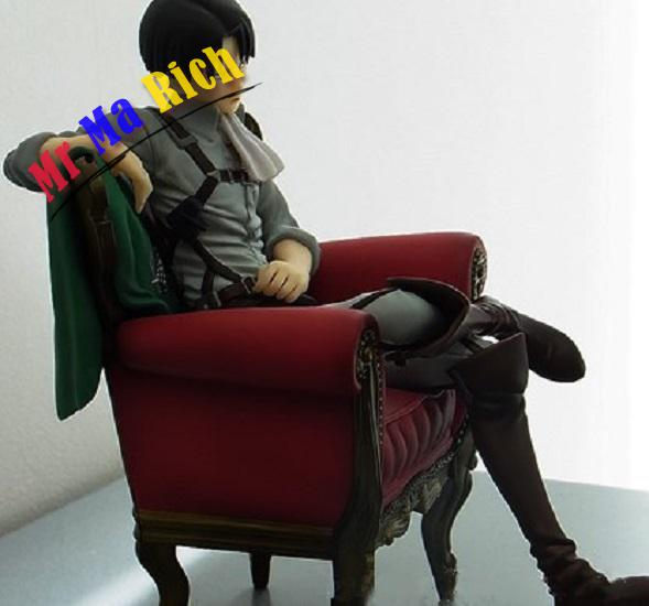 New Arrival Japanese Anime Attack On Titan Levi Ackerman Sitting Sofa Ver Pvc Model Action Figure 15cm Collection Doll Brand New Action & Toy Figures