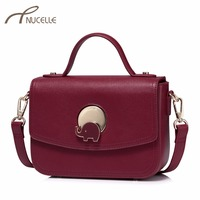 NUCELLE Women S Leather Handbags Ladies Fashion Elephant Lock Messenger Tote Purse Female Leisure Flap Brand