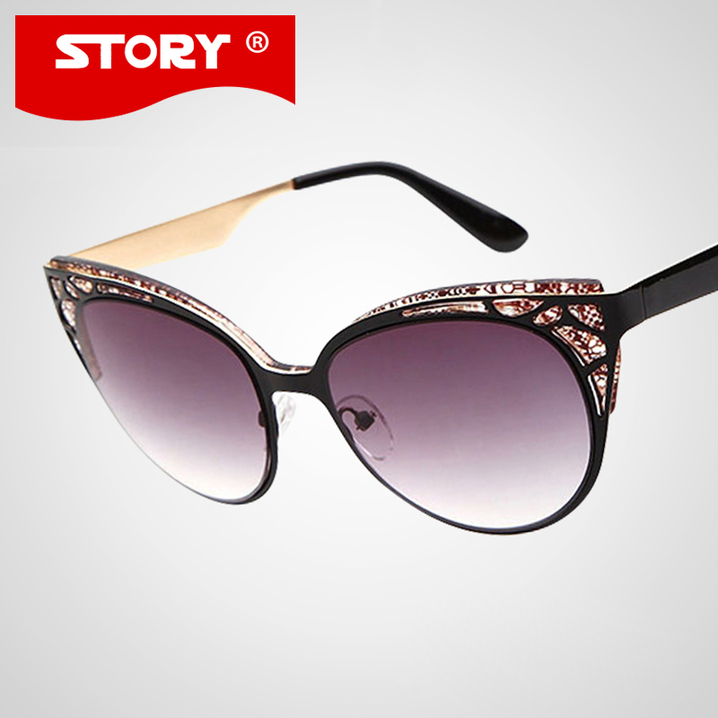 70904bafdbb95 HISTÓRIA Da Marca Óculos De Sol Das Mulheres de Boa qualidade Óculos de Sol  Olho de Gato Super Nobre Strass Decoração Oculos lunette de soleil