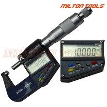 0-25 мм x0.001mm 7 клавиш Электрический цифровой микрометр, 2 шт./лот, высокое качество по низкой цене