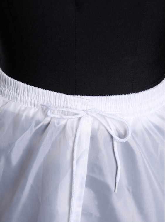 Trasporto Libero di Nuovo Arrivo 2018 di Grandi Dimensioni 3 Anelli Bianco Petticoat Con Garza per il Vestito Da Sposa con la Coda Può Essere Regolabile