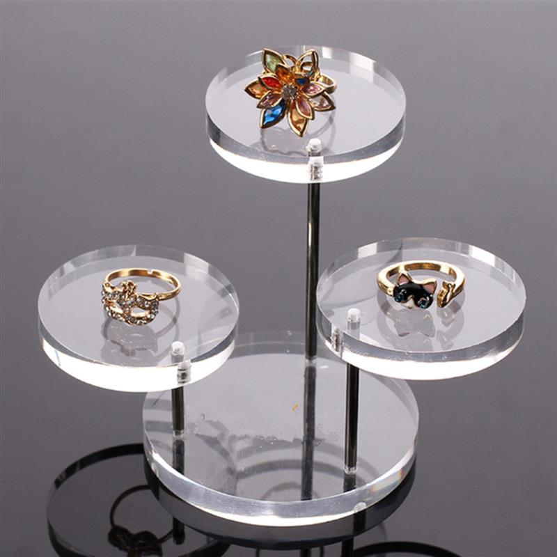 Acrylic Jewelry Display Boxes Bracelet Holder Necklace Rack Showcase Watch Display Stand Clear Acrylic Jewelry Box 3 Tray