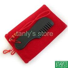 Comercio al por mayor y Al Por Menor Negro Bian Stone Massage Guasha comb/Natural bian-piedra asistencia sanitaria 20 unids/lote (130x40mm)