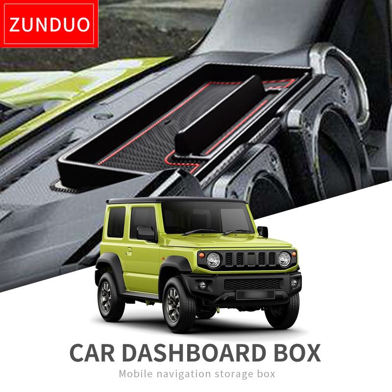Car Dashboard storage box For Suzuki Jimny 2019 Interior Accessories Multifunction Non slip Phone Stand Console Tidying GREEN