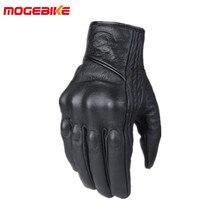 Кожаные зимние мотоциклетные перчатки, велосипедные мотоциклетные защитные шестерни, перчатки для мотокросса