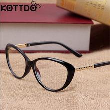 KOTTDO Gato Retro Olho Óculos de Armação Vidros Ópticos Homens Óculos De  Prescrição de Óculos Quadros Armacao Oculos de Grau Fem. 533dd5a514