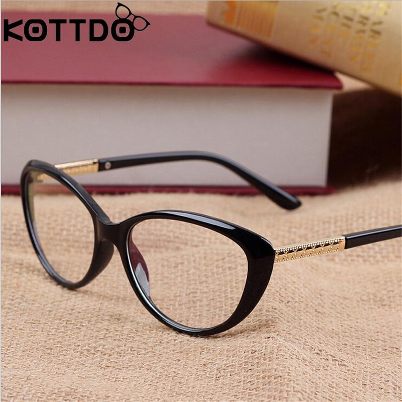 KOTTDO Retro Cat Eye Glasses Frame Gafas Ópticas Gafas graduadas Hombres Gafas Monturas Oculos De Grau Feminino Armacao