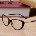 KOTTDO Retro Cat Eye Glasses Frame Optical Glasses Prescription Glasses Men Eyeglasses Frames Oculos De Grau Feminino Armacao