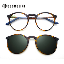 COSMOLINE Classic Luxury Polarized Sunglasses Women Magnetic Clip on Oculos De Sol Brand Designer Women Sun Glasses EC503UD
