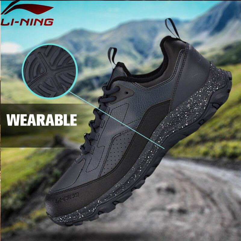 Li-Ning Men Hiking Boots Warm Shell Walking Sport Shoes Comfort Sneakers Skid-Resistance LiNing Sports Shoes AGCM137 YXB116