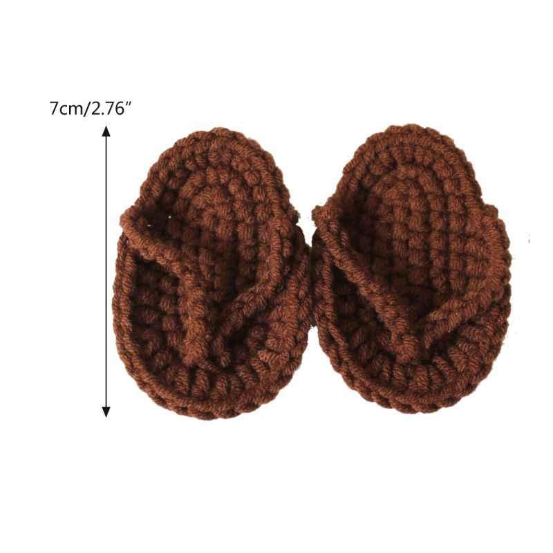 Accesorios de fotografía recién nacidos mano Crochet bebé zapatillas bebé foto accesorios de zapatos recién nacido fotografía accesorios de fotografía para bebés