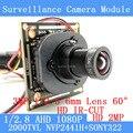 2mp ahd 1080 p nvp2441 + sony imx322 módulo da câmera do cctv 1920*1080 baixa iluminação 0.001lux 2000tvl 1080 p 6mm lens osd/cabo bnc