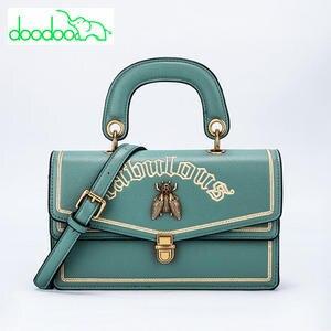 doodoo 2018 Design Women Leather Shoulder Messenger Bags e5f0f633bca32