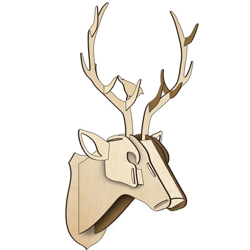 cerf en bois - Romaric Design