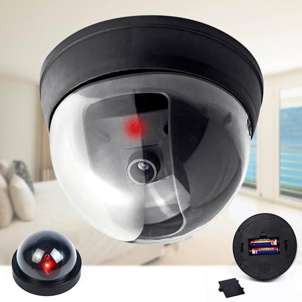 Dummy Fake Surveillance Security Dome Camera CCTV Flashing Red LED Light hot sale outdoor waterproof red led fake dummy ptz speed dome cctv security camera blinking flashing light