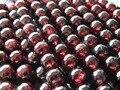 Envío Gratis natural A + granate 9-9.5mm smooth granos flojos redondos de piedra para la joyería de diseño