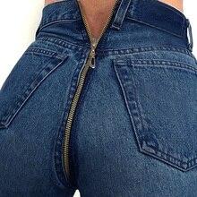 2018 New Hot Sexy Back Zipper Long Jeans Women Basic Classic