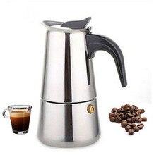 Italienischen Stainless Herd Espresso Kaffeemaschine Kaffeemaschine POT-2 6 Kaffee Töpfe Zubehör