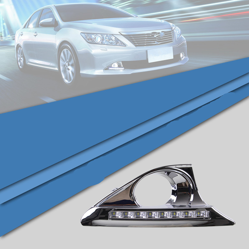 Tcart For Toyota Camry HEV 2011-2014 CAR LED DRL Daytime running light with yellow turn signal function Free shipping телевизор supra stv lc32lt0011w