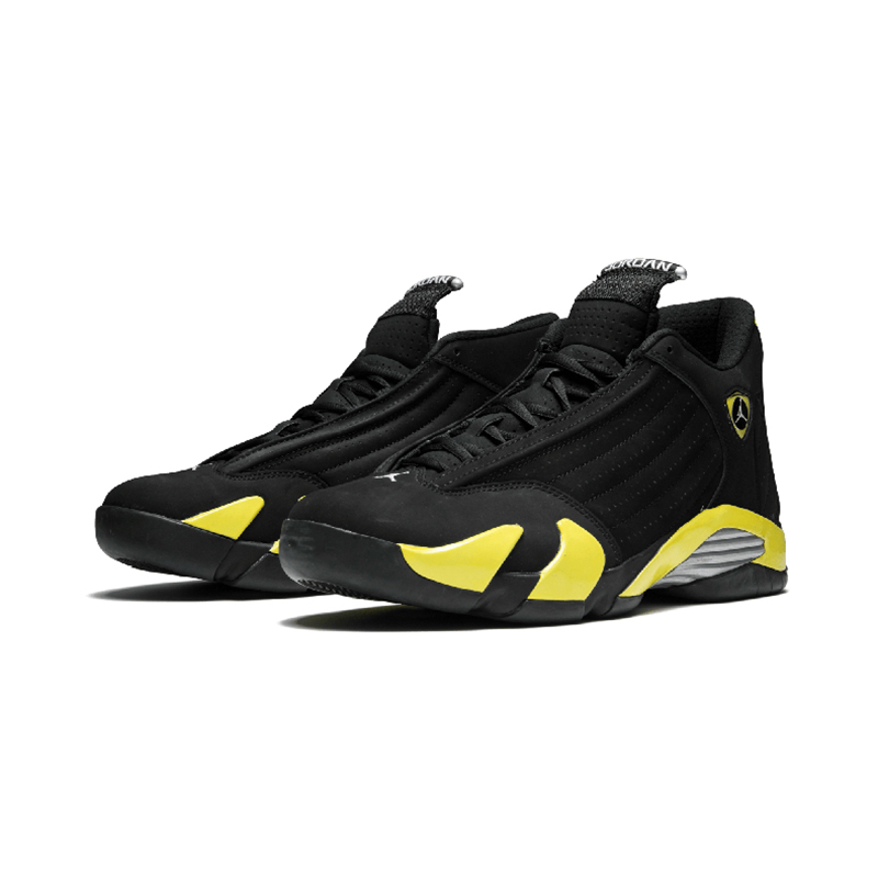 Original Authentic NIKE Air Jordan 14 Retro Men's Basketball Shoes Sport Outdoor Sneakers Medium Cut Lace-Up Good Quality 487471 75